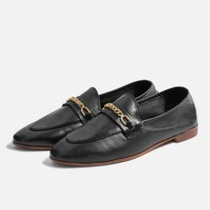 NWT Topshop Key Trim Loafers Black shoe 36